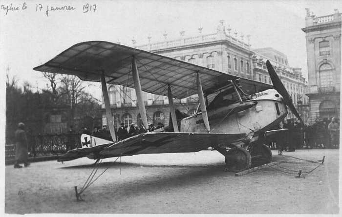 Avion capturé le 14 Janvier 1917