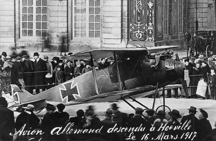Avion descendu le 16 mars 1917